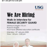 Walk-In Interview For Female Security Guard
